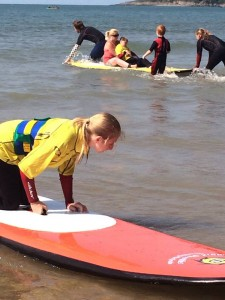 Awesome kids loving the waves with Surfability UK and the NPT physio team at Caswell bay, Swansea