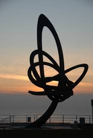 The Kitetail sculpture at Aberavon seafront is Wales' largest sculpture standing at 12 metres high and weighing 11 tonnes. The sculpture, designed by Carmarthenshire-based artist and sculptor Andrew Rowe, was installed in December 2007 .