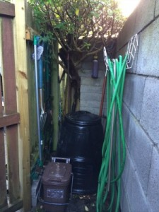 My composting corner - £5 compost bin from the council