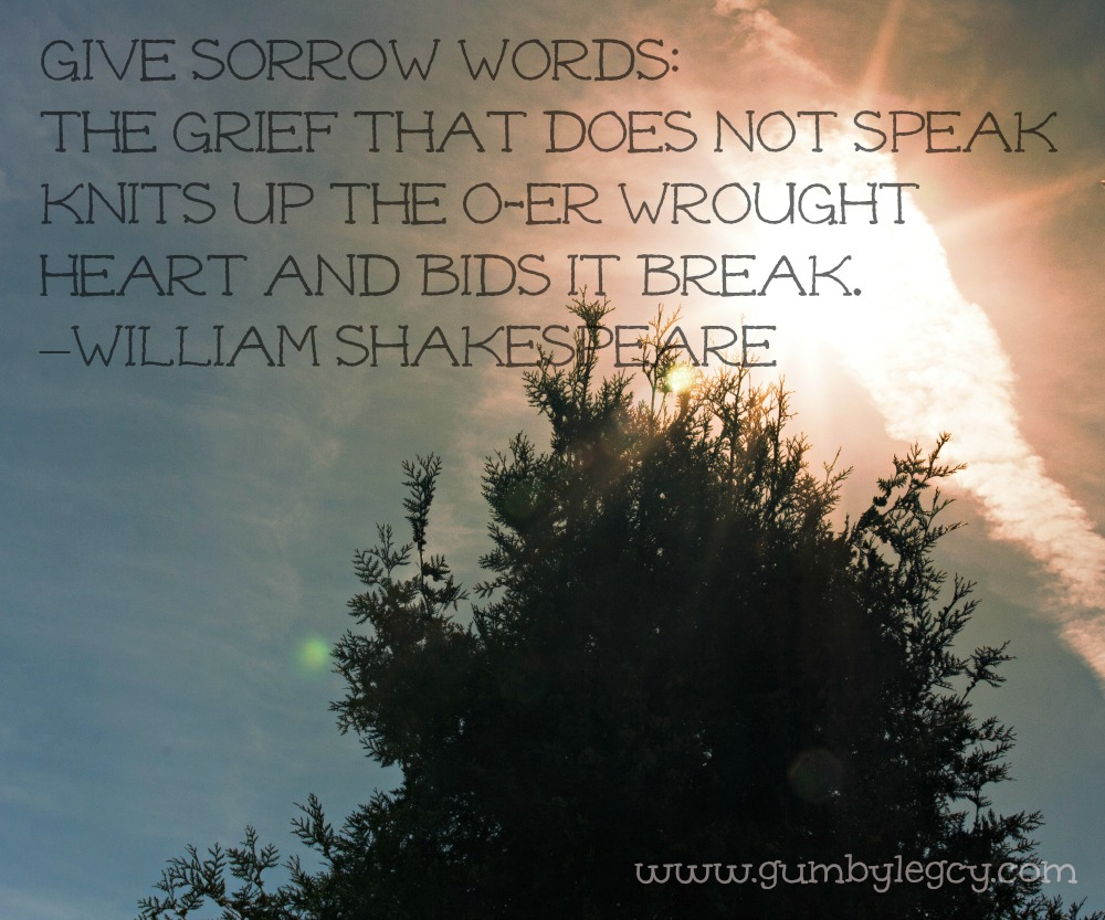 Give sorrow words by William Shakespeare