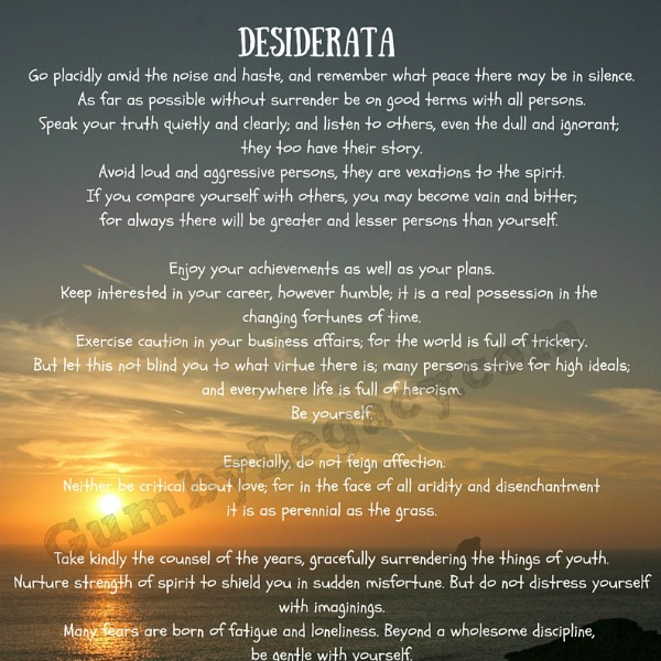 graphic about Desiderata Printable called A Quick Background of Desiderata - The Gumby Legacy
