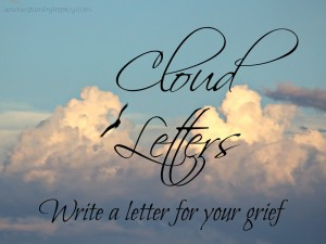 Writing letters to people who have died